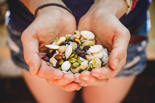 healthy fruit and nut mix