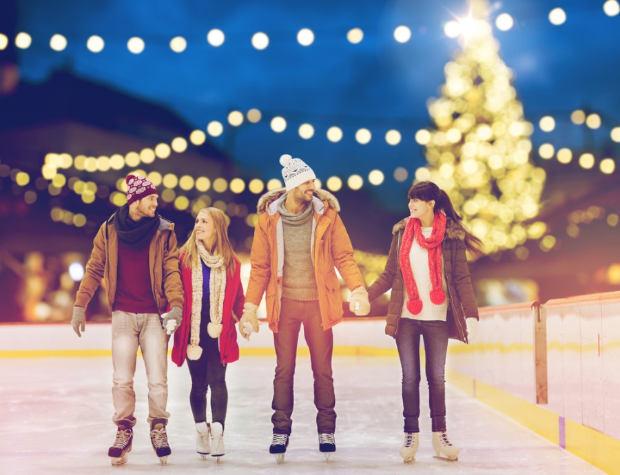 Ice skating for an active holiday