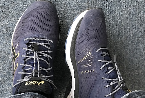 Running shoe with Xpand laces