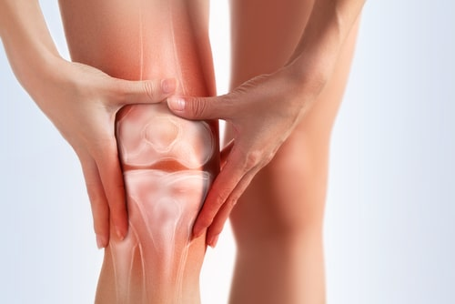 Knee pain arthritis concept