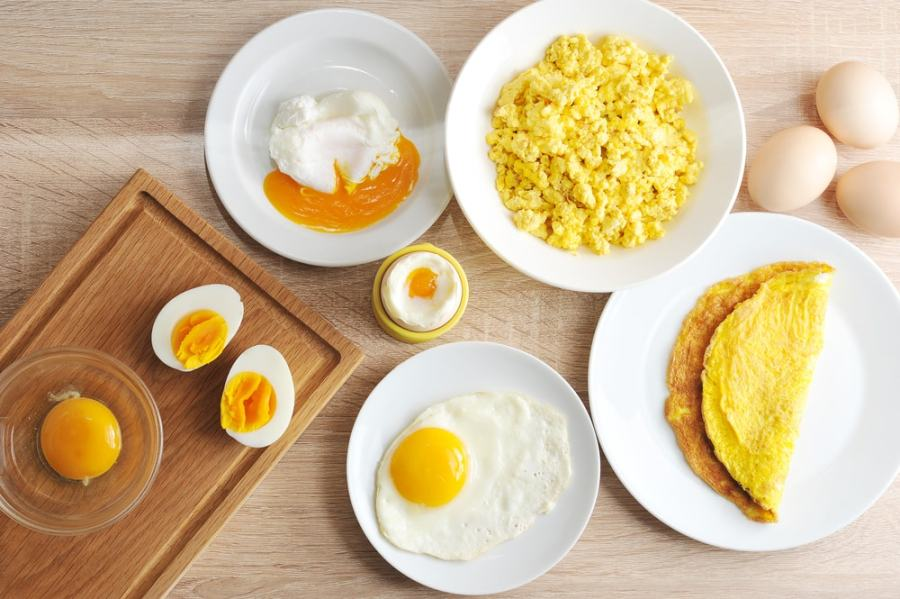 Various ways of cooking healthy eggs
