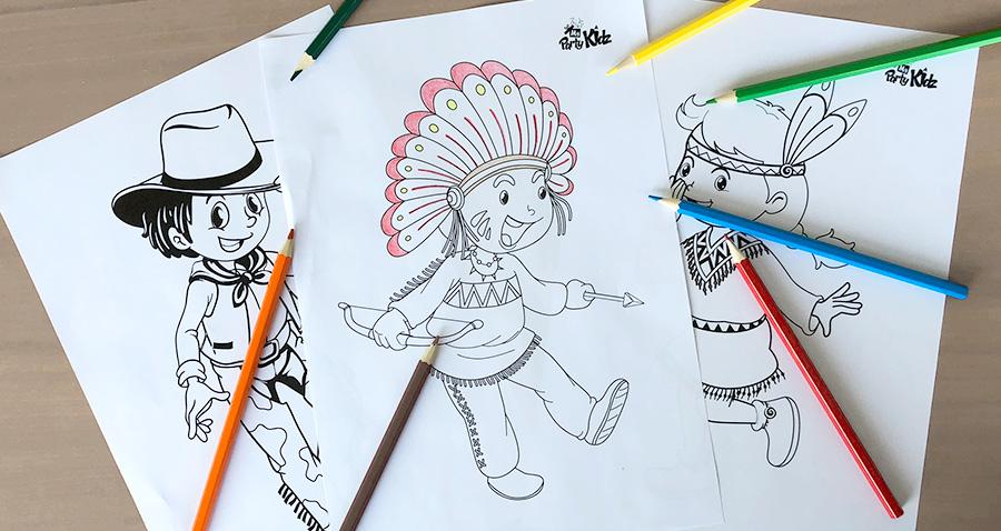 Coloriage Cowboy Et Indiens Coloriages Dessin