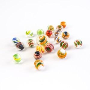 Jeux de billes : bille spiralo
