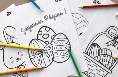 Coloriages de Pâques - 4 coloriages