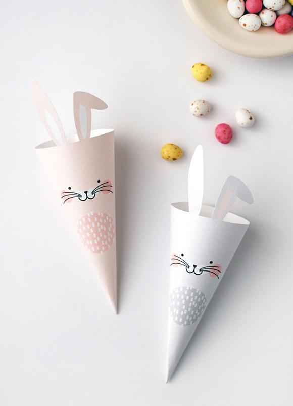 DIY cone de lapin