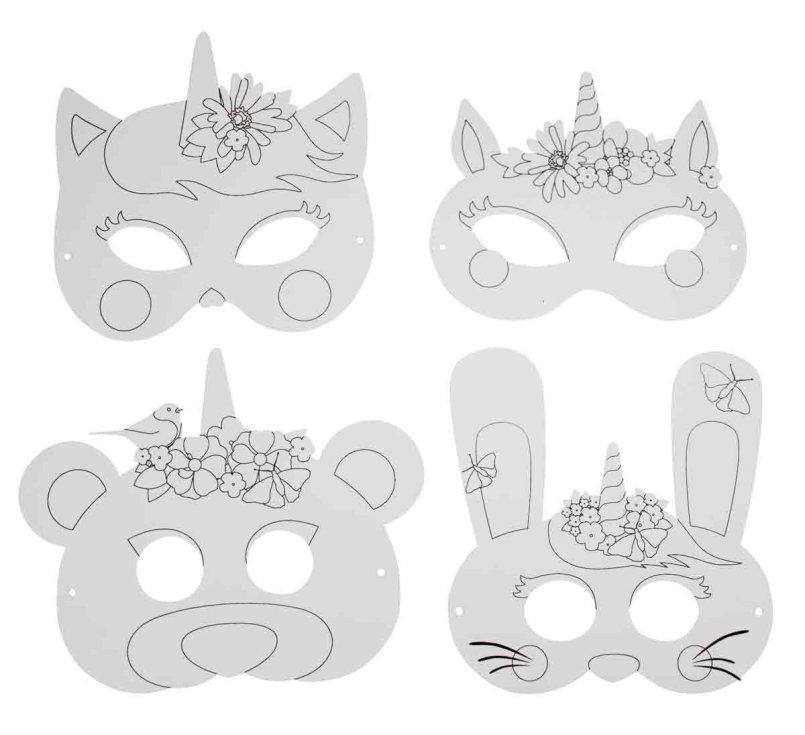 Masques de Licorne à décorer