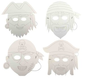Masques Pirate à colorier