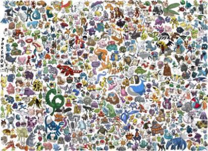 Poster pour décoration d'anniversaire Pokemon
