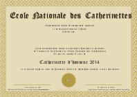 Diplôme de Catherinettes