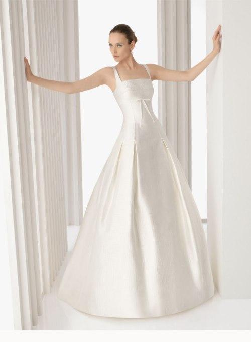 Robe de mariée à col carré