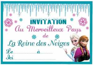 invitation reine des neiges