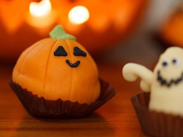 citrouille d'halloween en pâte d'amande