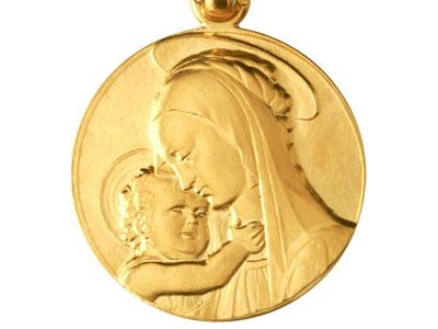 médaille de baptême en or