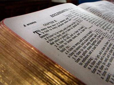 textes du baptême: la bible