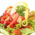 salade servie au diner