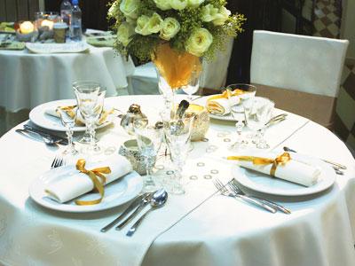 disposition du service de table