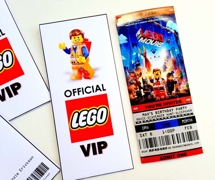 invitation lego en pass VIP