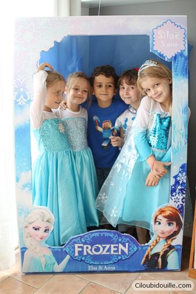 Jeux Reine des Neiges et photocall pour activité d'anniversaire reine des neiges