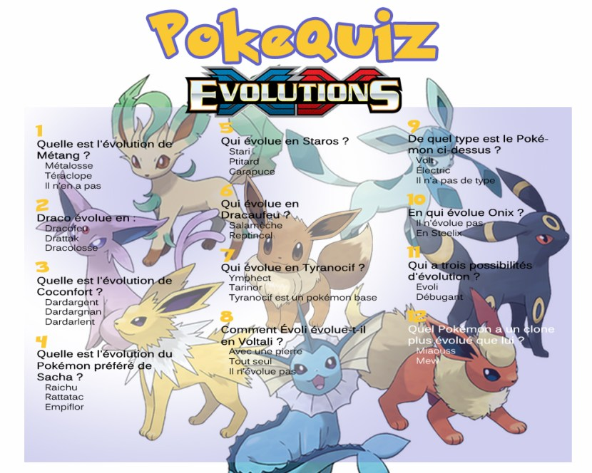 Image du quiz pokemon spécial Evolutions