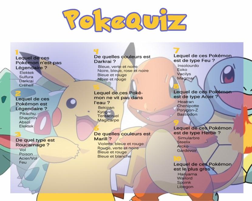 Image du quiz pokemon