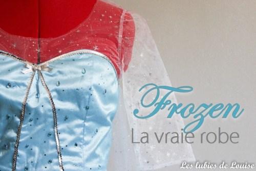 Création déguisement d'Elsa la reine des neiges
