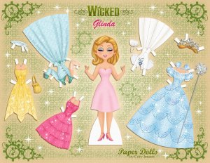 Poupée en papier de Glinda- baby collection Cory Jensen