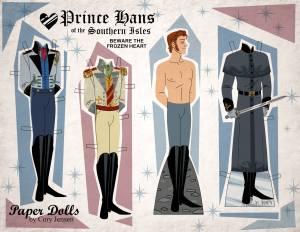 Poupée en papier des personnages masculins de la reine des neiges - Cory Jensen