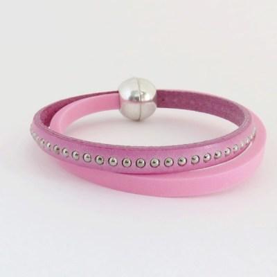 Joli bracelet rose en mousse comme cadeau de Noël pour une ado - Par Stéphanie Ruballe Bijoux