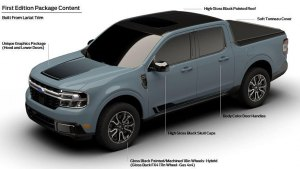 Ford Maverick First Edition revealed in marketing materials