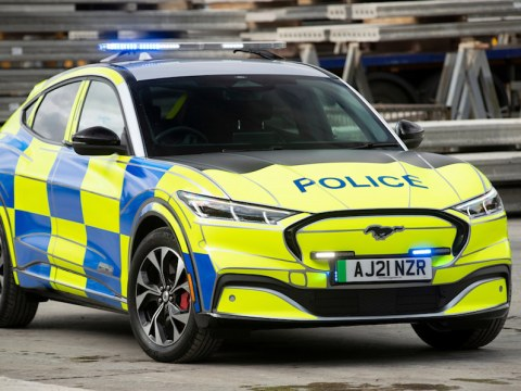 Ford Mustang Mach-E police car concept reports for duty in the U.K.