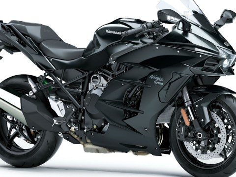 Kawasaki files patent for electric supercharger on a hybrid motorcycle