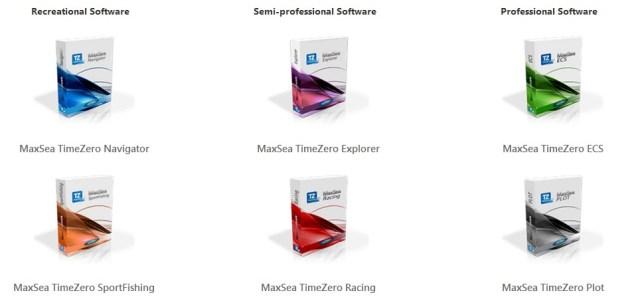 All MaxSea TimeZero software versions