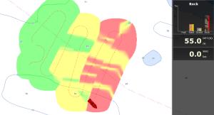 Bottom Hardness display in classic color palette - MaxSea TimeZero ECS-Plot v.1.2