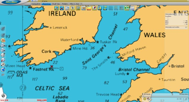 Lusitania sinking anniversary - MaxSea TimeZero Raster 2D