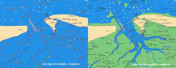 English Channel - Hamburg Navionics Vector Charts Update