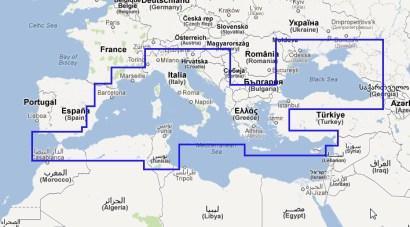 Mediterranean & Black Sea Navionics vector chart update (MWVNEM43XGMAP5.1)