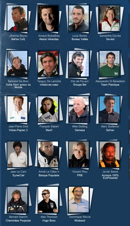 Vendee Globe 2012-2013 19 skippers