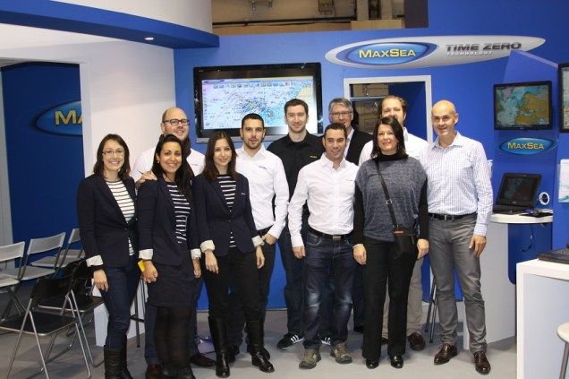 MaxSea Team at the 2012 Nautic