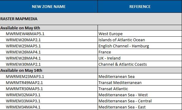 Raster Chart update - April 2013