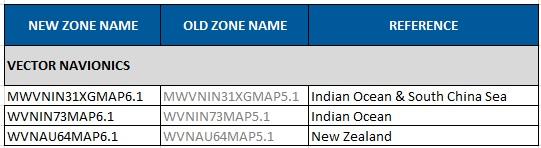New Zealand, Indian Ocean and South China Sea Navionics chart update