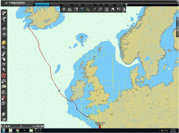 Trace of the Kata Lind: Reykavík to Brest