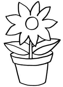 Malvorlage Blumen Einfach Coloring and Malvorlagan