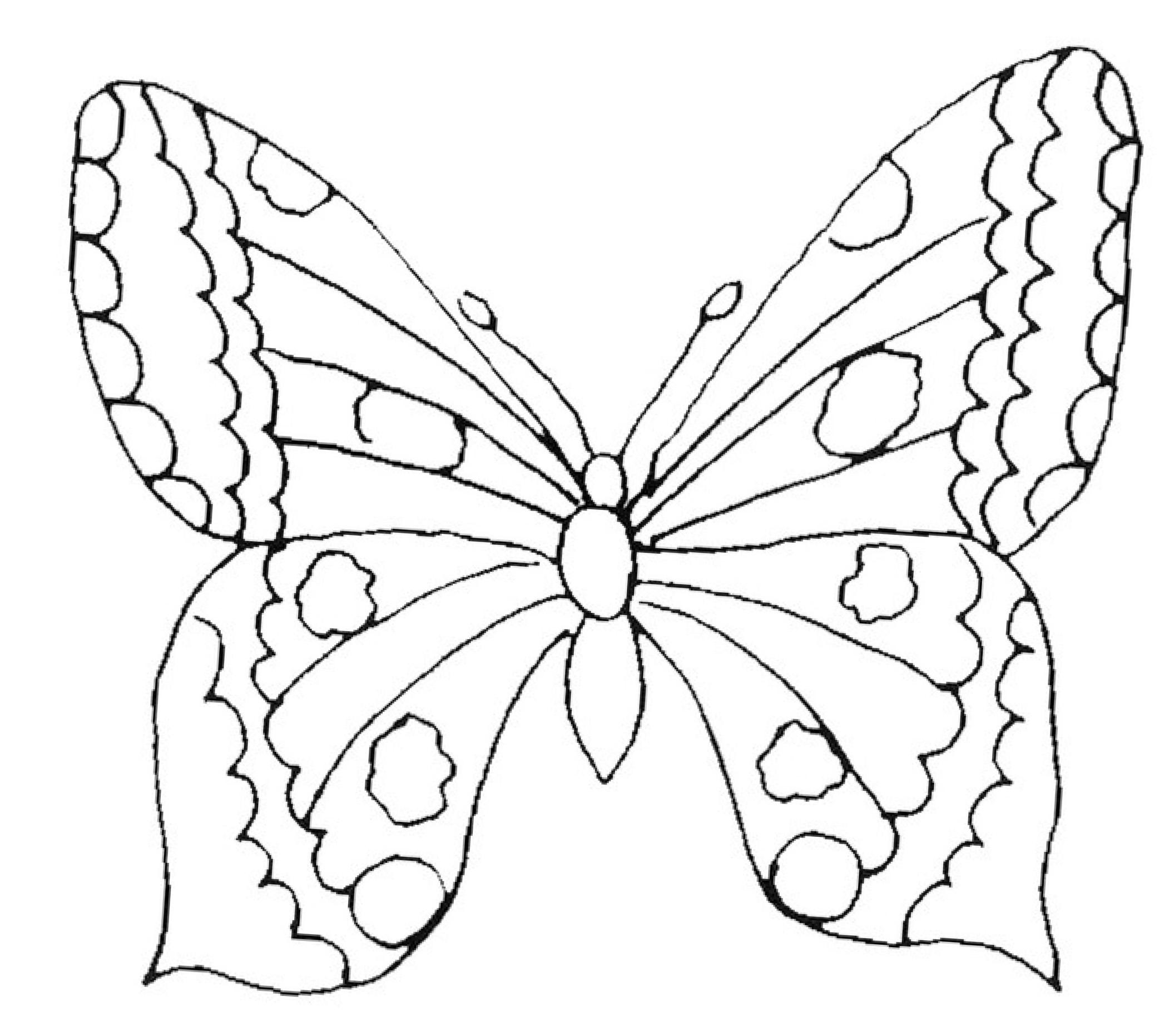 21 Awesome Malvorlagen Blumen Mit Schmetterling