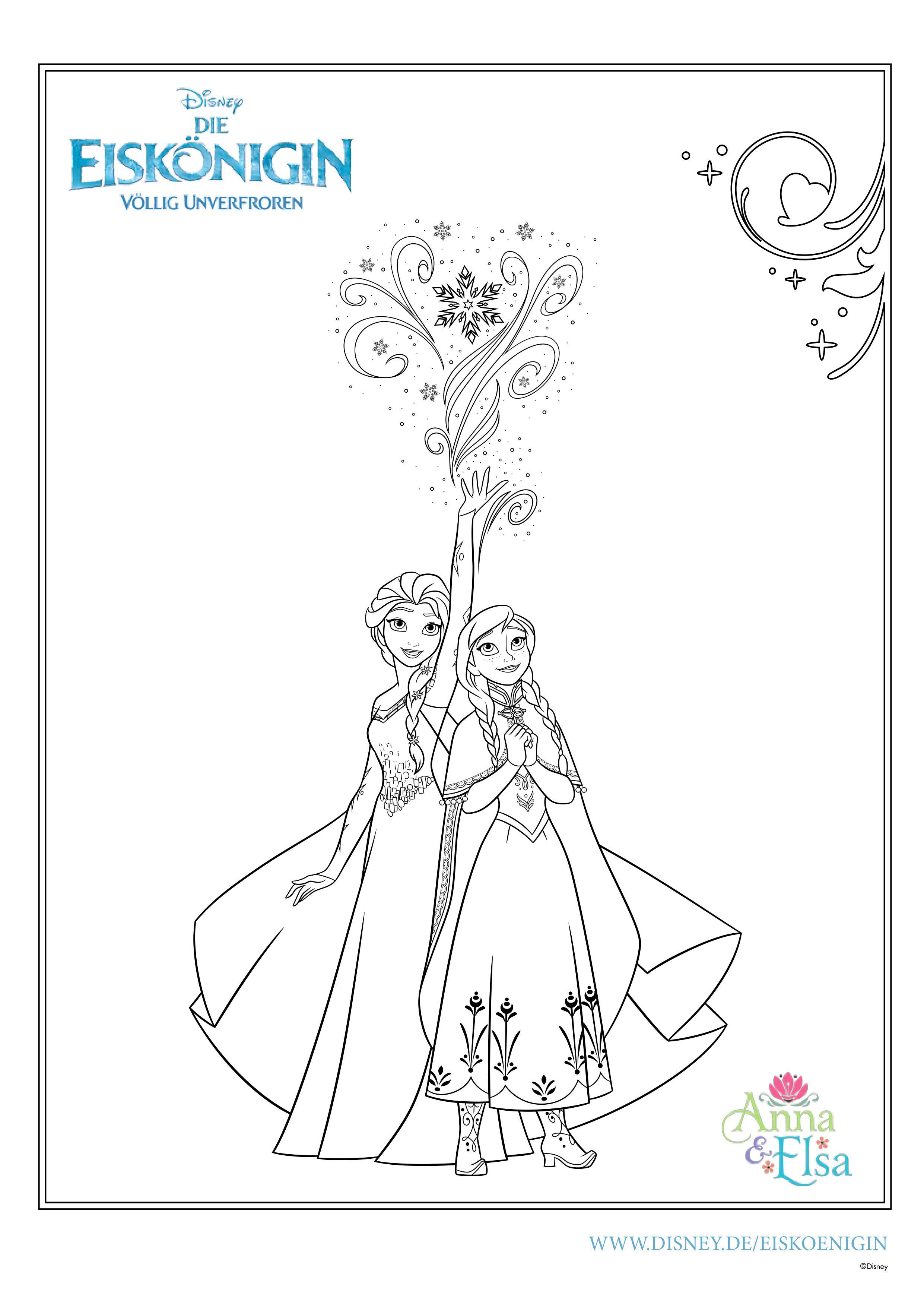 Anna Und Elsa 2 Bilder Zum Ausmalen - Malvorlagen