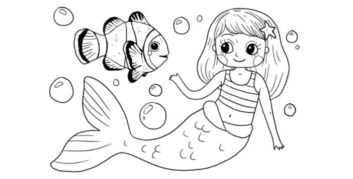 Ausmalbilder Meerjungfrau myToys-Blog