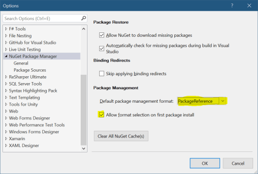 NuGet Package Management options