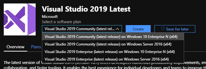 Selecting an edition of Visual Studio
