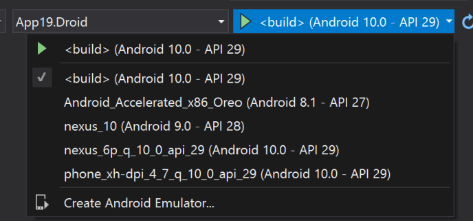 Surface Duo emulator disguised as <build>