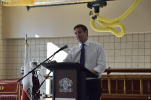 U.S. Rep. Eric Swalwell at the FHC press conference.