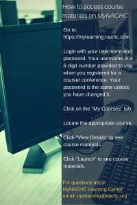 How to access course materials on MyNACHC (3)